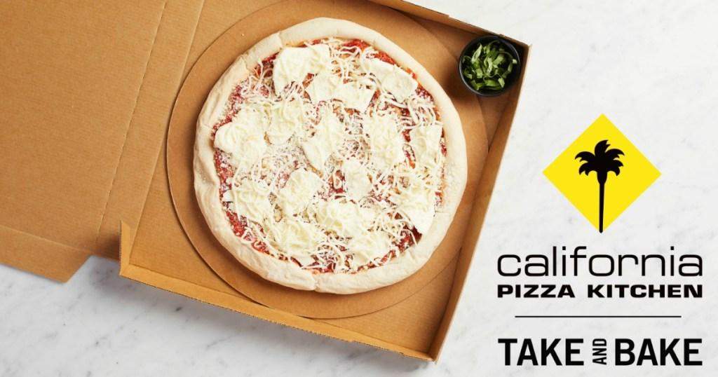 California Pizza Kitchen Take & Bake Pizza in box