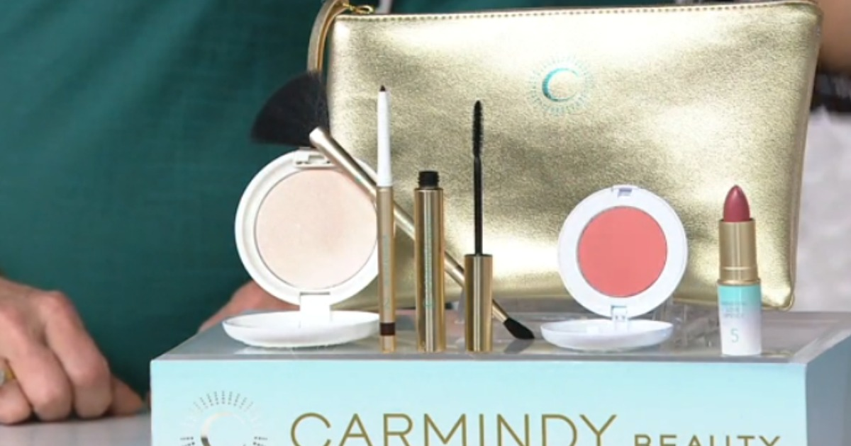 Carmindy Beauty Holiday 5 Minute Face with Makeup Bag