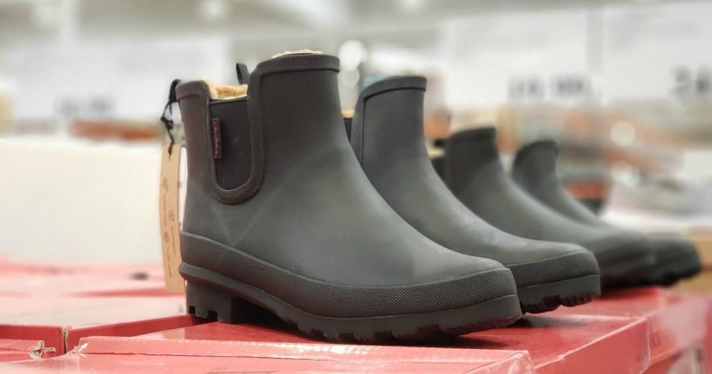 Chooka Women's Rain Boots on display at Costco Warehouse