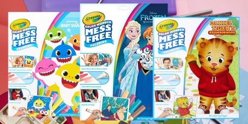 Up to 50% Off Crayola Color Wonder Coloring Pages & Markers | Disney's Frozen, Baby Shark & More