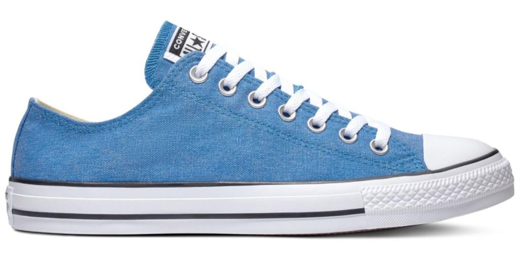 blue converse sneaker