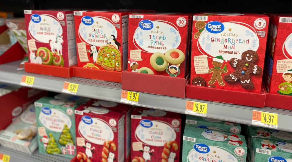 Cookie Kits on shelf at Walmart
