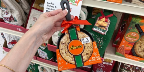 Cast Iron Skillet Cookie Kits Only $6 at Big Lots | Reese's, Oreo & More