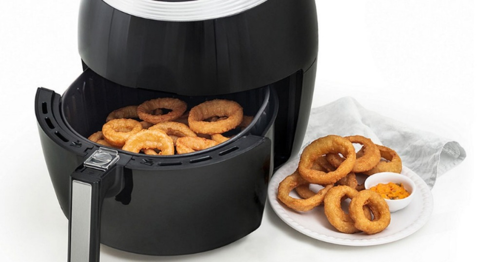Cooks 5.3-Quart Air Fryer with onion rings