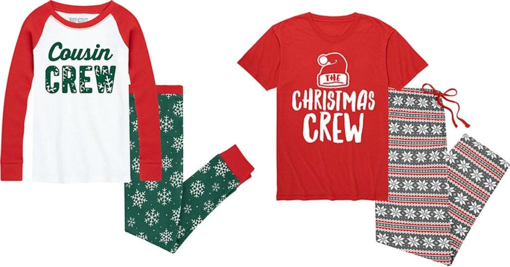 Cousin and Christmas Crew Pajamas