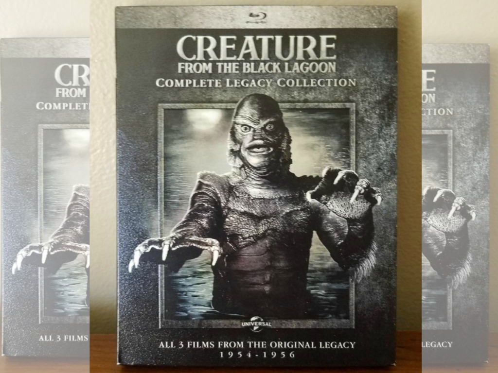 Creature From the Black Lagoon Complete Legacy Blu-ray Set in case on counter