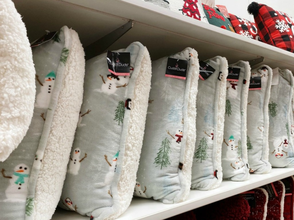 Cuddl Duds Snowman Throw pillows in-store at Kohl's