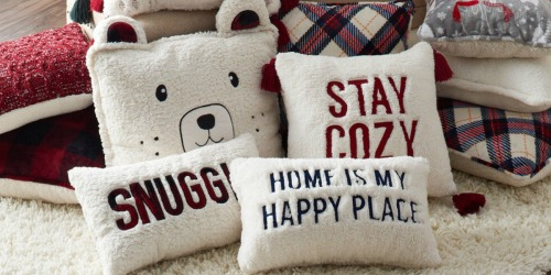 Cuddl Duds Sherpa Throw Pillows from $8.49 on Kohls.com (Regularly $30)