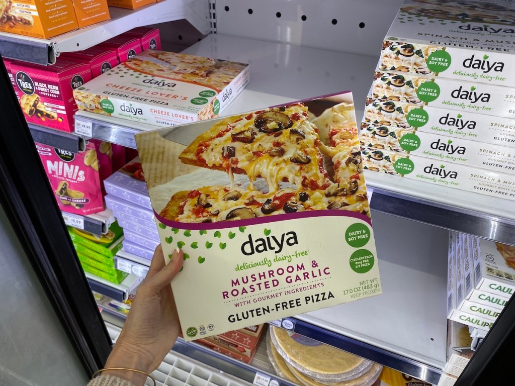 Daiya Pizza in Whole Foods Store cooler