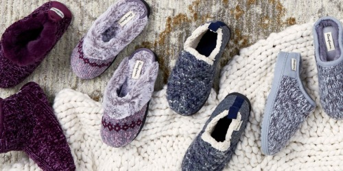 Up to 60% Off Dearfoams Slippers AND Free Shipping