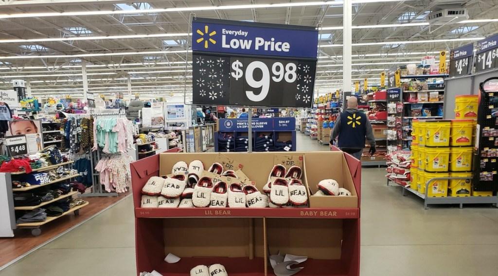 Dearfoams holiday slippers at Walmart