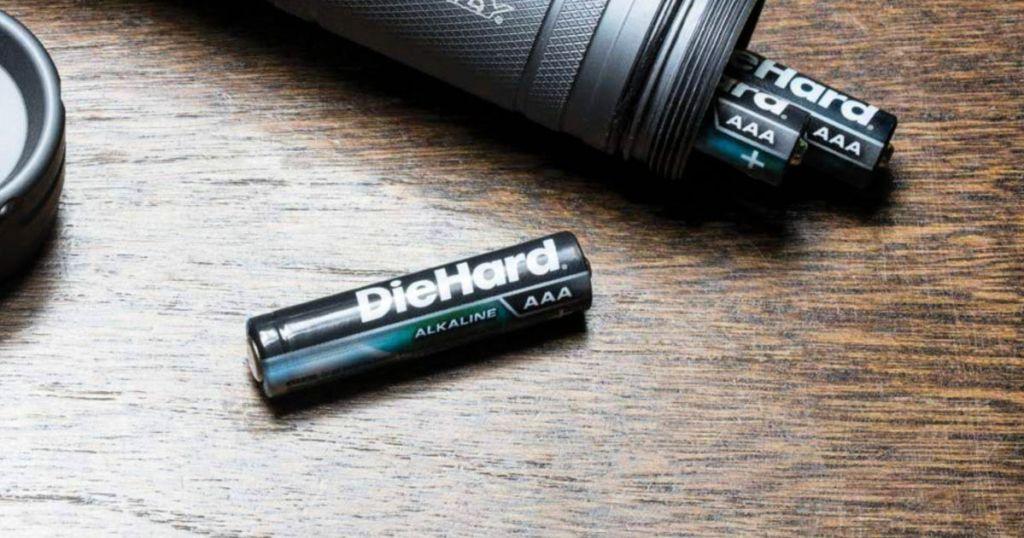 DieHard Batteries on table