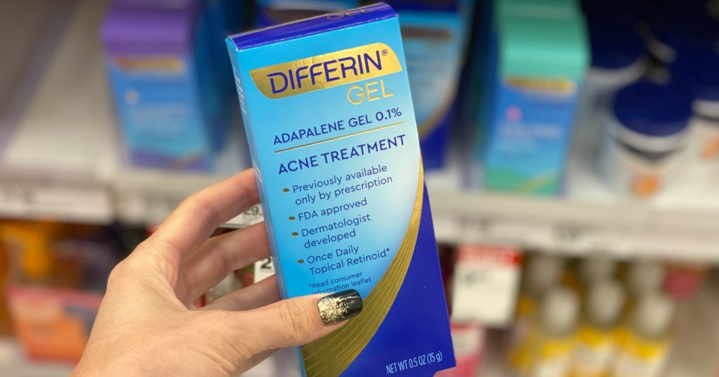 Differin Gel Acne Treatment in woman's hand