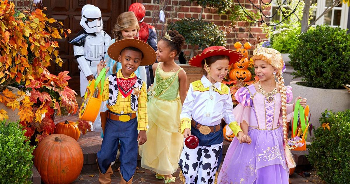 kids wearing Disney Halloween Costumes