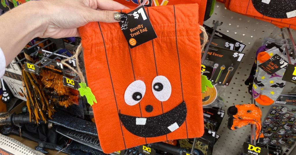 Dollar General Halloween Novelty Treat Bag in store