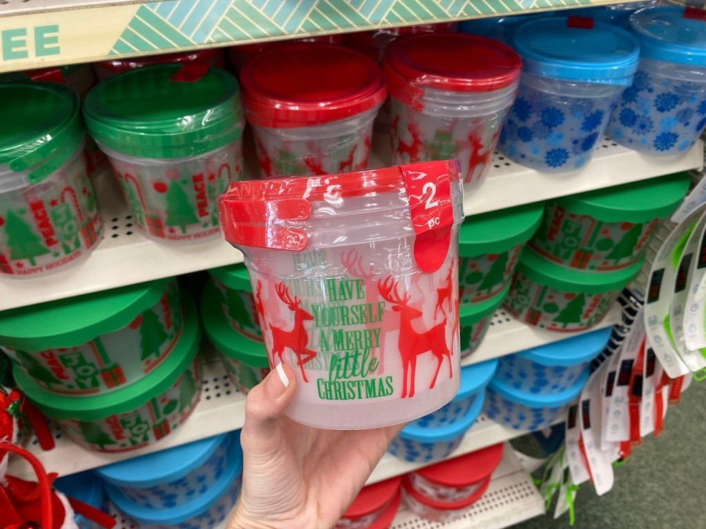 Dollar Tree Holiday Containers