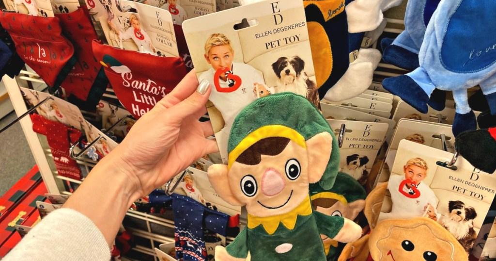 ED Ellen DeGeneres Holiday Flattie Pet Toy