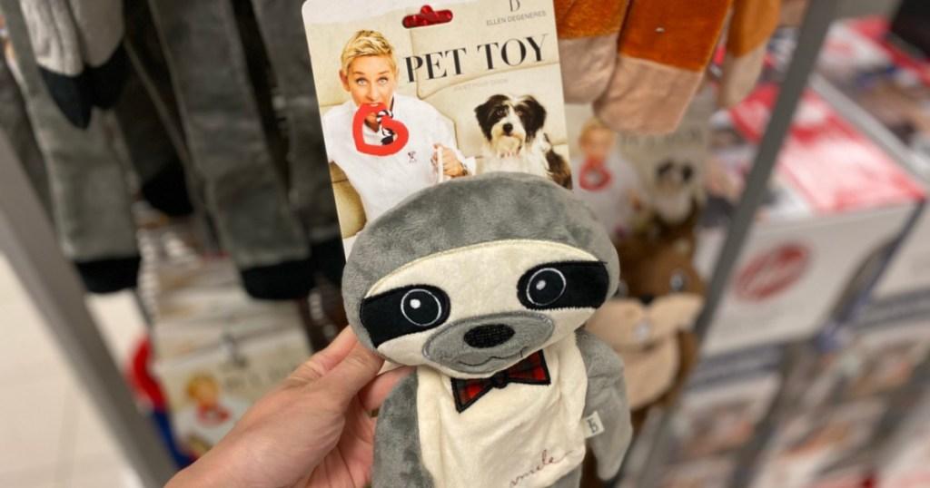 ED Ellen DeGeneres Stuffed Head Flattie Pet Toy