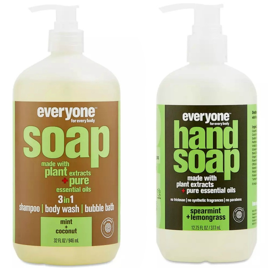 EO brand hand soap and bubble bath