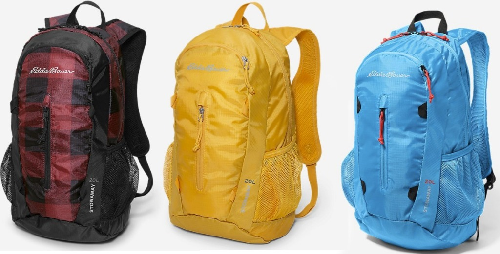 Eddie Bauer Daypacks in three colors