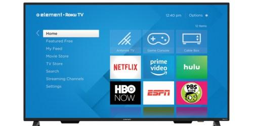 Element 70″ 4K ROKU Smart LED TV Just $550 at Walmart (Regularly $800)