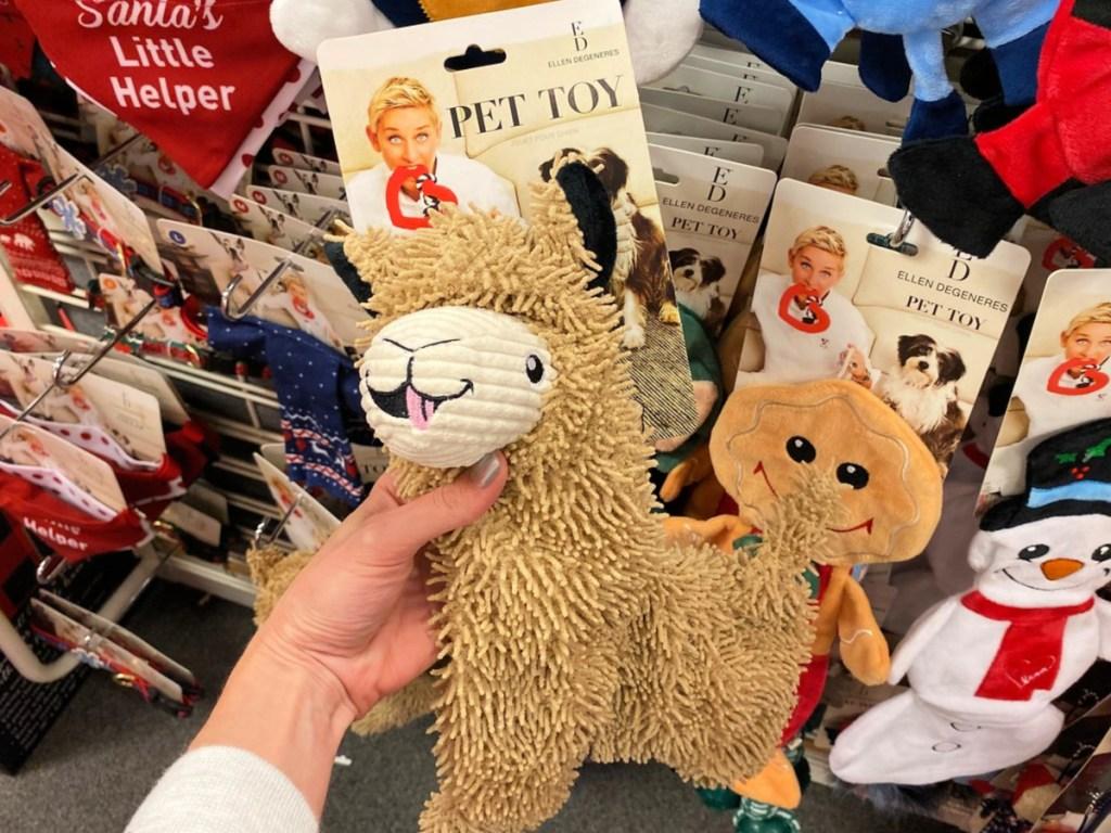 Ellen Degeneres Llama Dog Toy