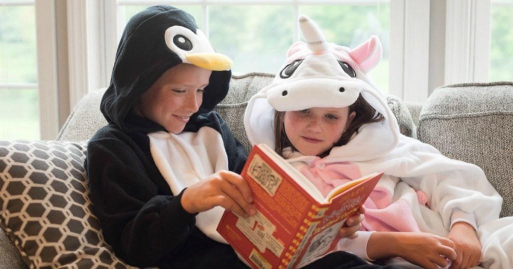 Emolly Penguin and Unicorn Pajama Onesies