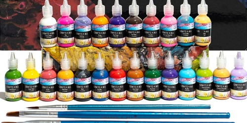 3D Permanent Fabric Paint Set Only $18 Shipped at Amazon | Includes 24 Colors & Paintbrushes