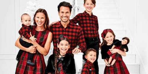 Up to 70% Off The Children's Place Matching Family Holiday Apparel + Free Shipping