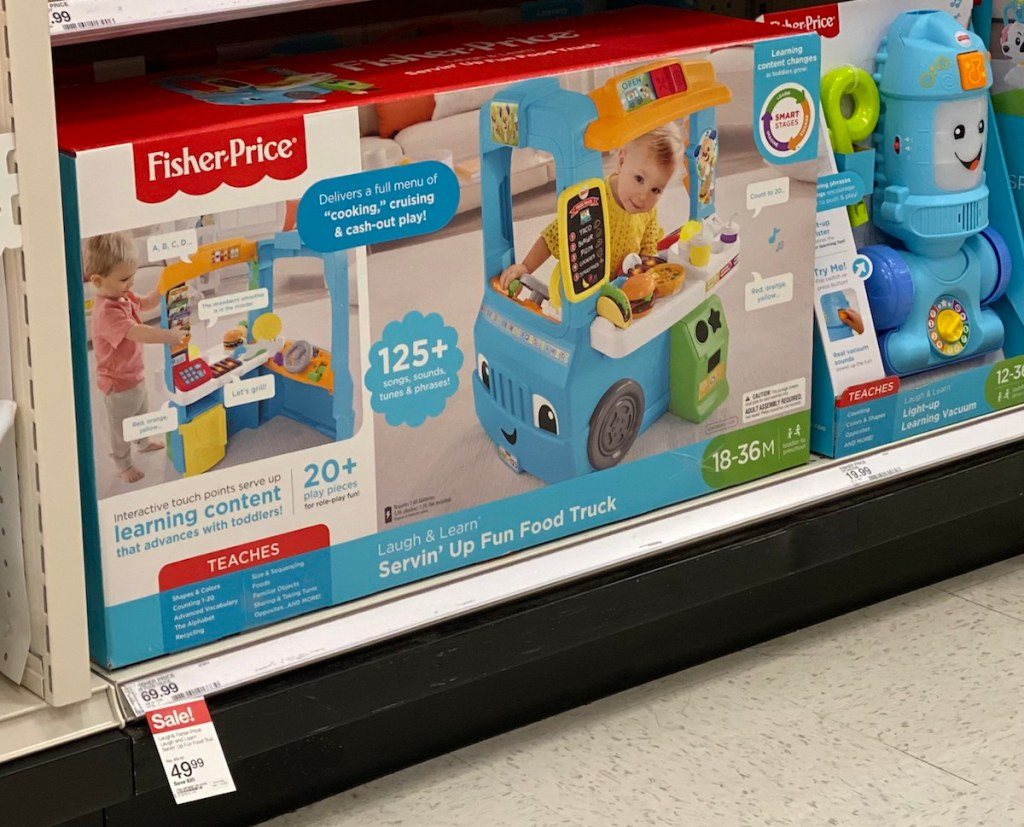 Fisher-Price Food Truck on shelf at Target