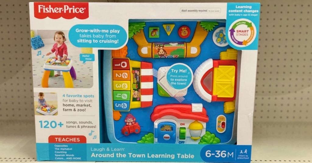 Fisher-Price Learning Table in package on shelf in-store at Target