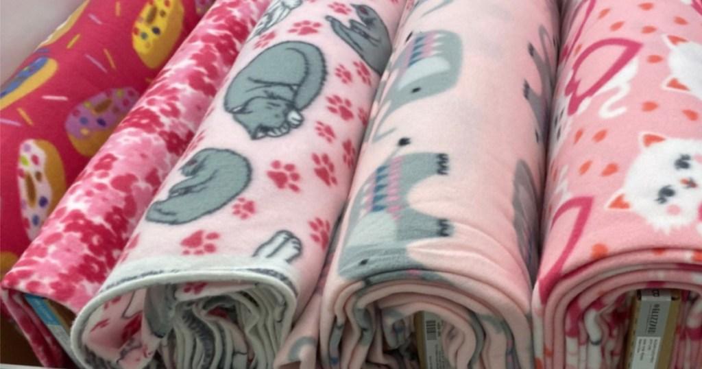 fleece fabric at joanns