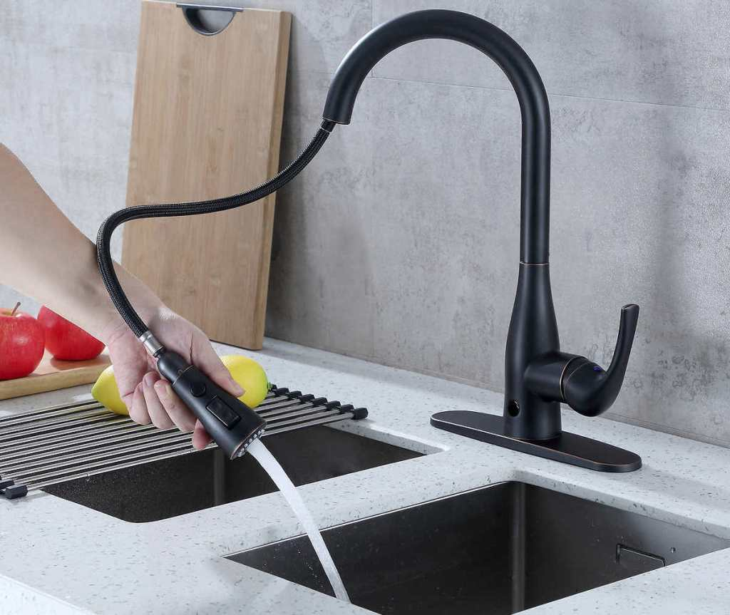 Flow Motion Activated Pull Down Kitchen Faucet Only 99 99 Shipped At Costco Hip2save