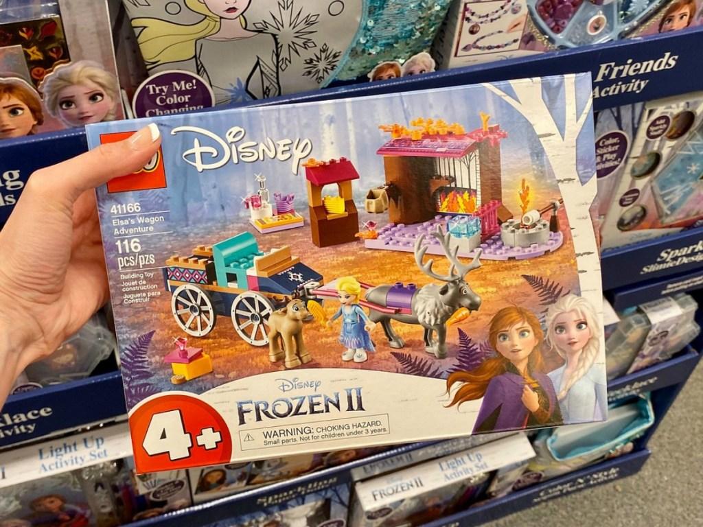 Frozen II LEGO Wagon Set in hand in-store