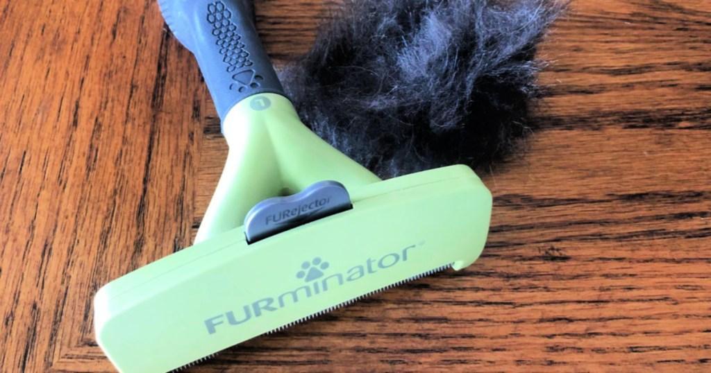 Furminator tool on table