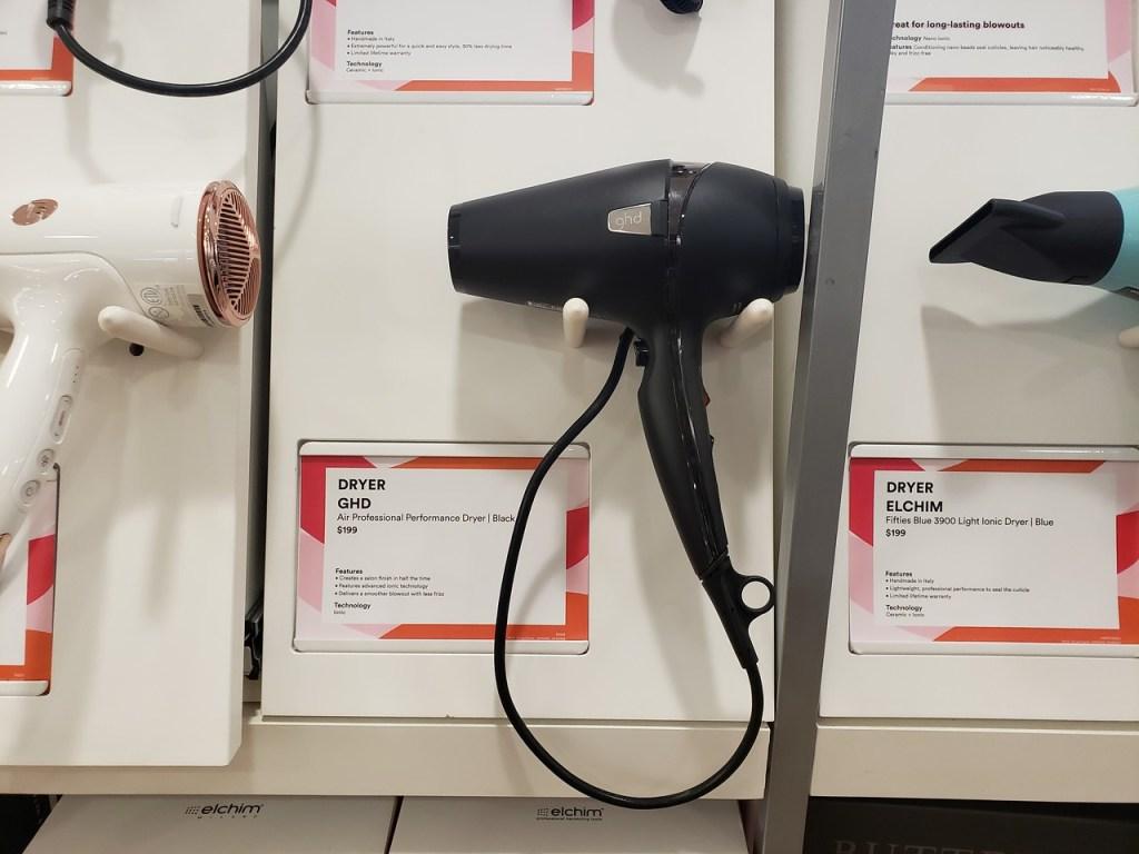 GHD Air Professsional Dryer on Ulta display
