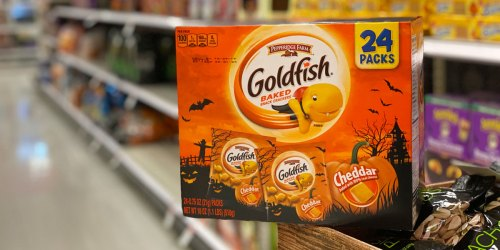 Halloween Goldfish 24-Packs Only $4.40 at Target | Great for Trick-or-Treaters