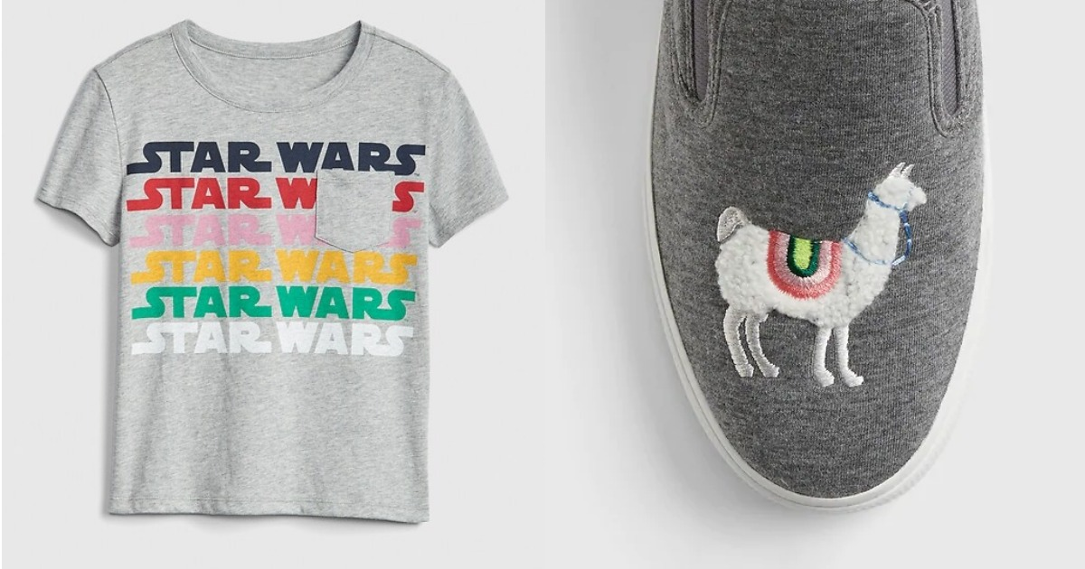 GapKids Star Wars Tee and Llama Shoes