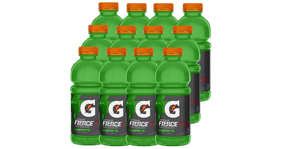 bottles of green gatorade