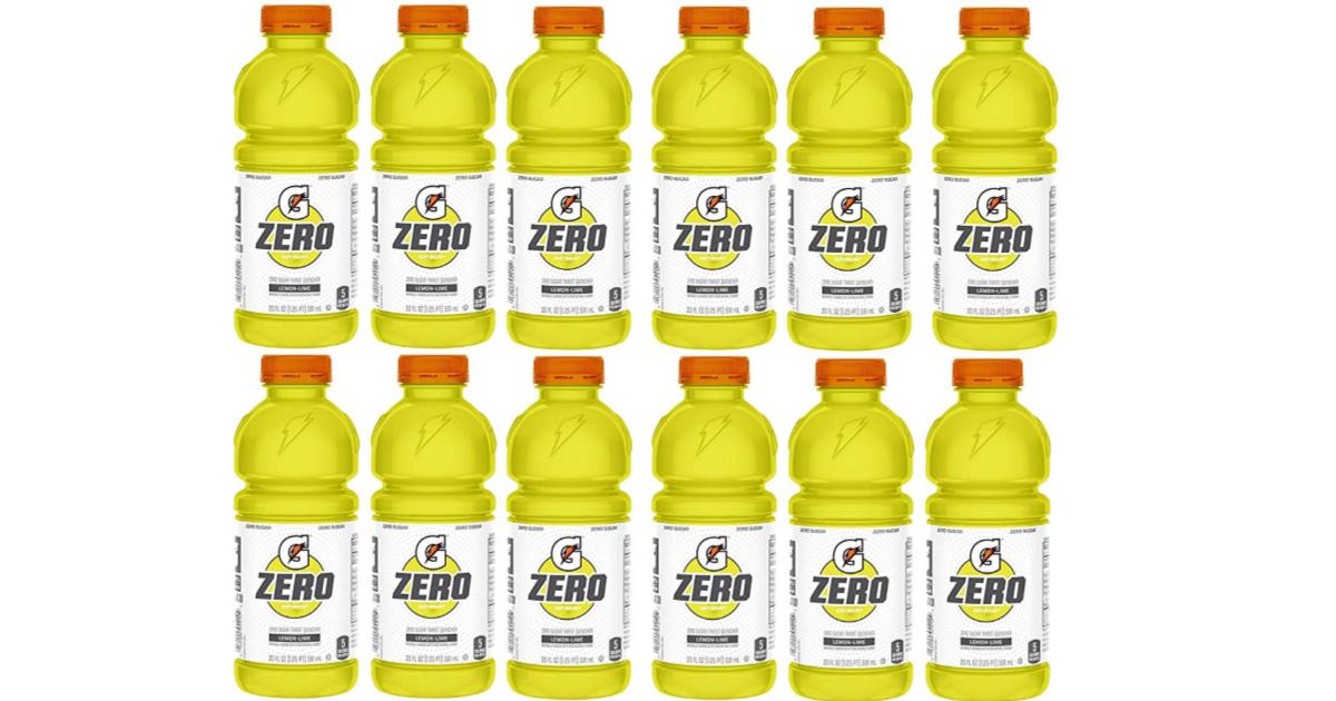 Gatorade Zeor Sugar 20oz Lemon Lime 12-Pack
