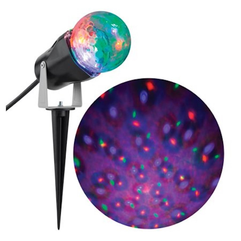 Gemmy Confetti Lighted Orange/Purple/Green LED