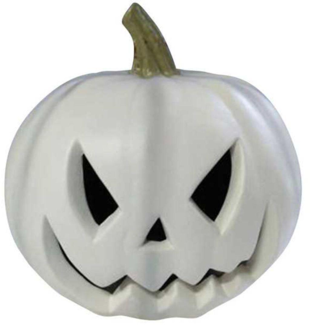 Gemmy White Jack-O-Lantern Lighted Halloween Decoration