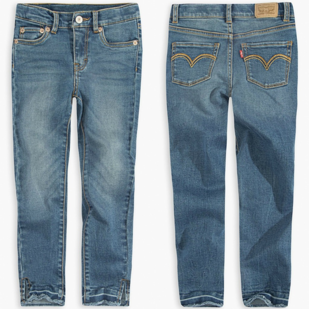Levi's Girls jeans front and back view