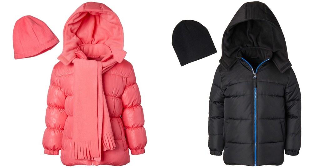 Girls and Boys Zulily Puffer Jackets