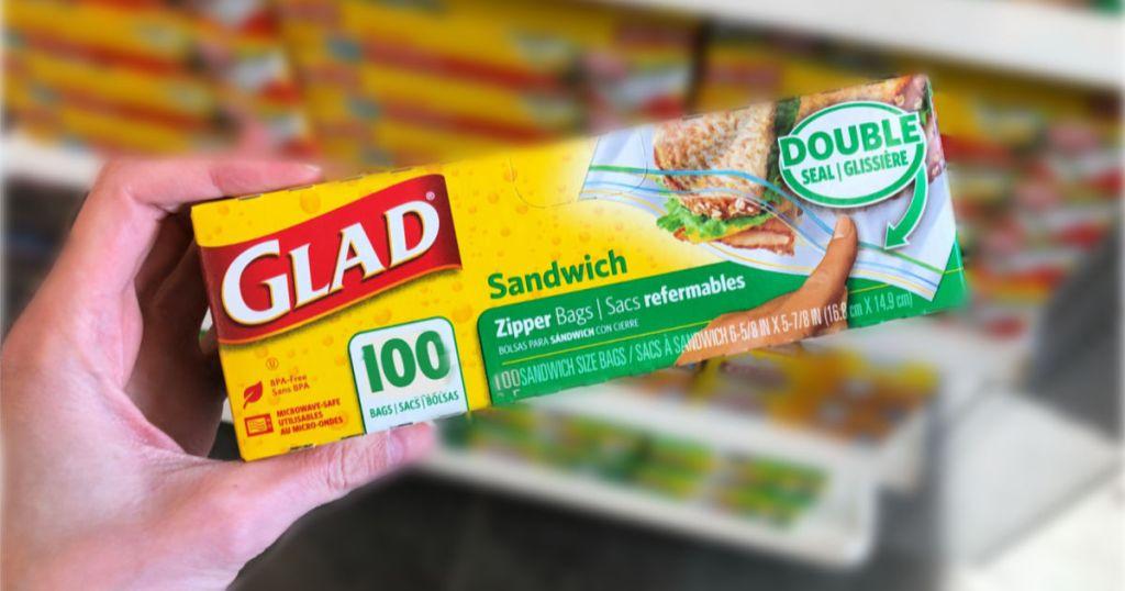 Glad 100 Zipper Sandwich Bags
