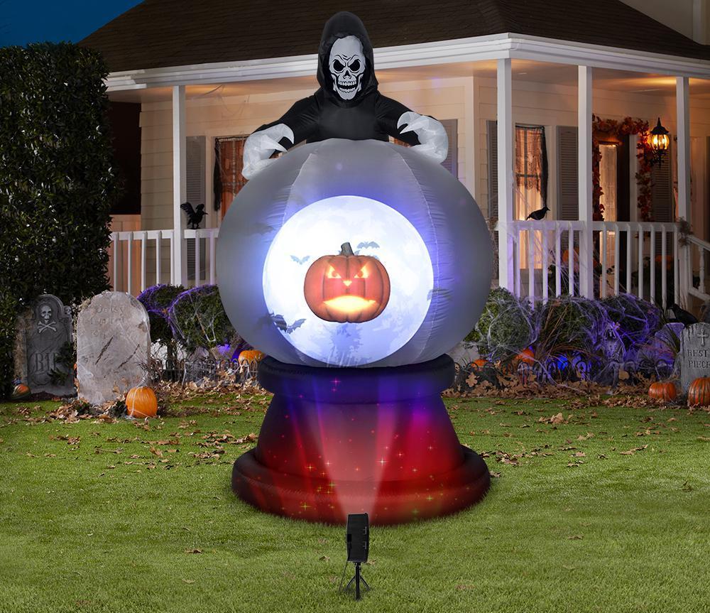 Grim Reaper Projection Globe