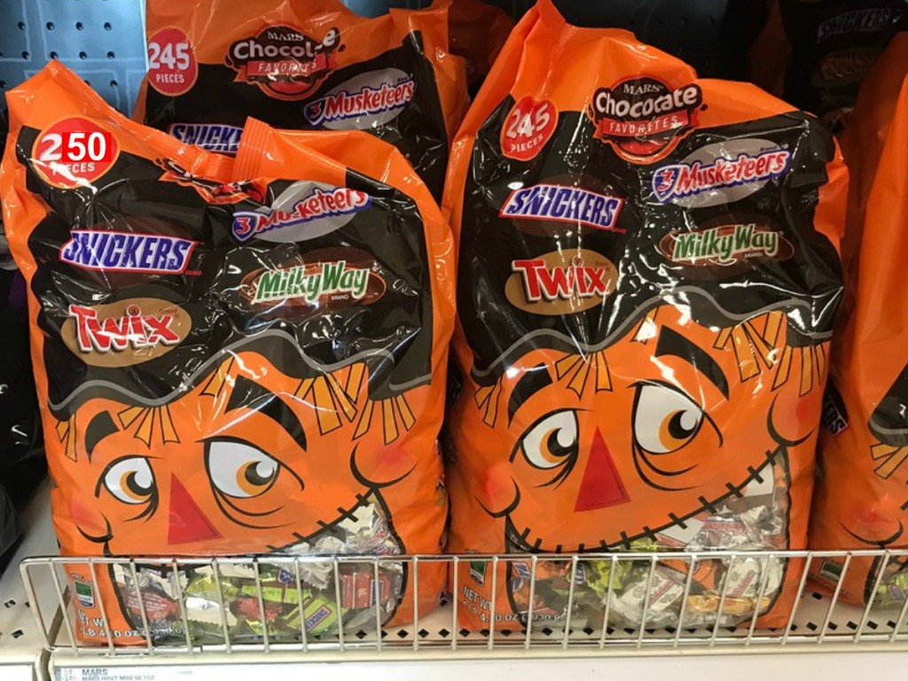 Mars Halloween Bags with 250 pieces of candy at that store