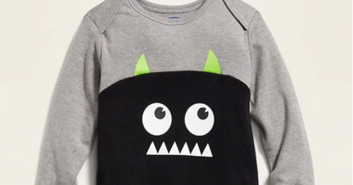 halloween monster baby one piece from old navy