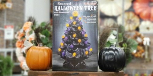 This Haunted Halloween Ceramic Light-Up Tree is Back in Stock AND 50% Off at Michaels