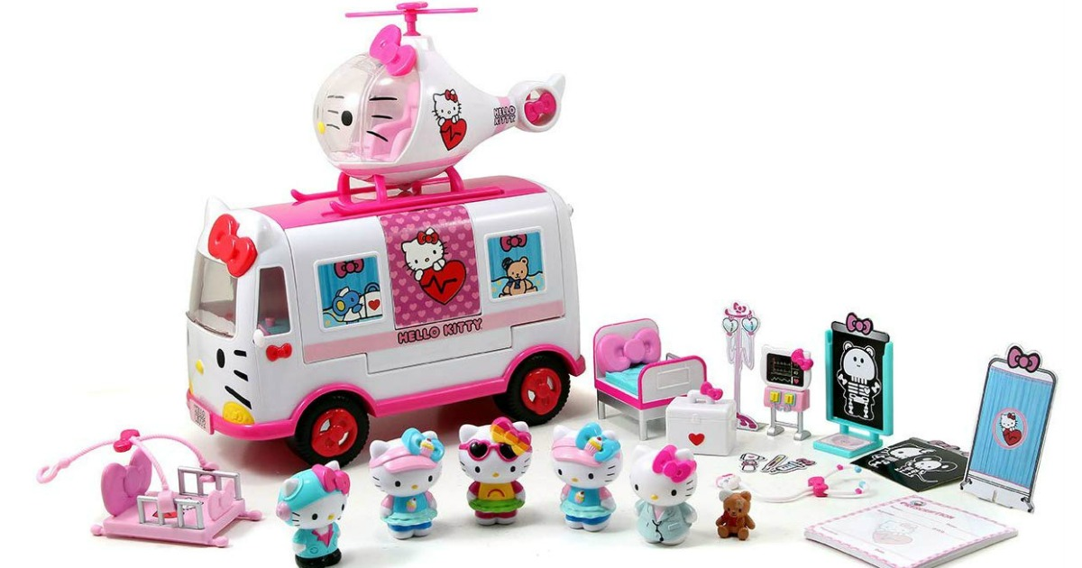 hello kitty rescue play set contents
